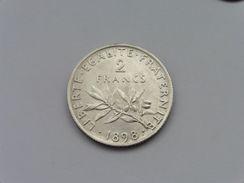 1898 : 2 F Argent Monnaie - France