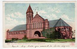 BURLINGTON, Vermont, USA, Billings Libary, University Of Vermont, 1906 UB Detroit Photographic Co Postcard - Burlington