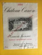 6134 - Château Canon 1986 Canon Fronsac - Bordeaux