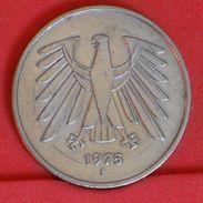 GERMANY FEDERAL REPUBLIC 5 MARKS 1975 F -    KM# 140,1 - (Nº19281) - [ 7] 1949-… : FRG - Fed. Rep. Germany