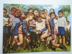 D155996  Mongolia Children Wrestling - Mongolia