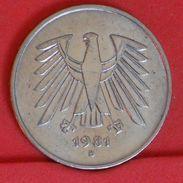 GERMANY FEDERAL REPUBLIC 5 MARKS 1981 D -    KM# 140,1 - (Nº19283) - [ 7] 1949-… : FRG - Fed. Rep. Germany