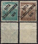 "Harvester Pair - 1919 Czechoslovakia Tschechoslowakei ""Posta Ceskoslovenska 1919"" Overprint Occupation Hungary - Used - Unused Stamps"