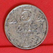 NORWAY 5 ORE 1942 -    KM# 388 - (Nº19286) - Noruega