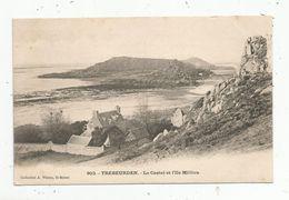 Carte Photo , 22 , TREBEURDEN ,le Castel Et L'ile MILLIAU , Dos Simple , Vierge - Trébeurden