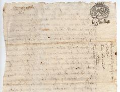 1682 - Document Manuscrit - Généralité D'Alençon - Taxe 8 Deniers LE FEUILLET - Seals Of Generality