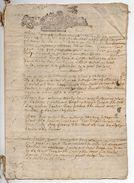 1680 - Document Manuscrit  4 Pages - Généralité D'Alençon  - Taxe PETIT PAPIER  UN SOL LA FEUILLE - Seals Of Generality