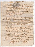 1688 - Document Manuscrit  2 Pages - Généralité D'Alençon  - Taxe De 1 Sol - Seals Of Generality