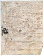 """1685 - Document Manuscrit Sur Peau Velin  - Généralité D'Alençon - Taxe """"POUR PLACART"""" 6 Sols - Seals Of Generality"""