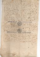 1677 -  Document Manuscrit - Généralité D'Alençon - 2 Taxes De 6 Deniers Le Quart (feuille Entière) Pliée - Seals Of Generality