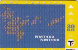 Faroe Islands, OD-021, Nmt Phones, Only 8.990, 2 Scans. - Faroe Islands
