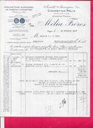 FACTURE ALGERIE - Manufacture Algérienne De Tabacs Et Cigarettes MELIA FRÈRES   à ALGER  - BORD1512 - - Invoices & Commercial Documents