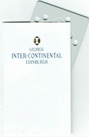 Carte Magnétique D'Hotel. Inter-Continental. Edinburgh. Avec Pochette. - Cartes D'hotel