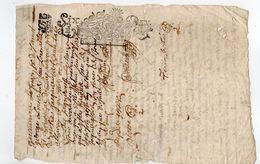 1691 - Document Manuscrit - Généralité D'Alençon - Taxe 6 Deniers Le Quart (QU2) (1/4 De Feuille) - Seals Of Generality