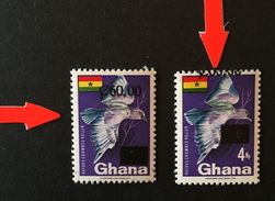 Ghana 1988 Surch. Part Of Value On Perforation With Normal - Ghana (1957-...)