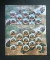 INDIA ALDABRA GIANT TORTOISE 2 DIFFERENT SHEETLETS MNH LOOK !! - Schildkröten