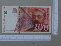 FRANCE 200 FRANCS 1996 -       (Nº19316) - 200 F 1995-1999 ''Eiffel''