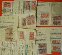 Lot 30 Timbres Fiscaux Sur Document Complet Beaucoup De Différent Destockage - Fiscaux