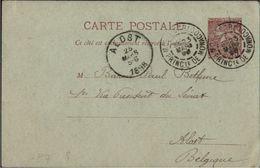 ! 1898 Entier Monte Carlo, Ganzsache Monaco, An Baron Paul Bethune Alost, Belgien, Adel - Entiers Postaux