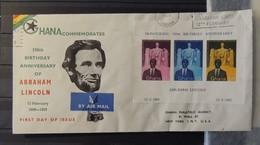 Ghana - Lettre Avec Lincoln - Bloc Non Dentelé 1959 - Ghana (1957-...)
