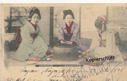 AK Nagasaki /Ganzsache 1898 - Japan