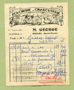 "BIESLES  (52) : "" BOUCHERIE - CHARCUTERIE  GEORGE ""  1951 - France"