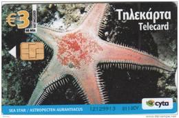CYPRUS - Underwater 1/Sea Star, Tirage 20000, 01/10, Used - Cyprus