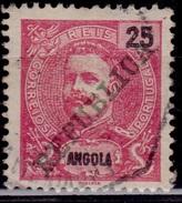 Angola, 1911, King Carlos, Overprint, 25r, Sc#93, Used - Angola
