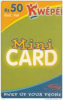 MAURITIUS ISL. - Kwepe By EMTEL Prepaid Card Rs 50, Used - Mauritius