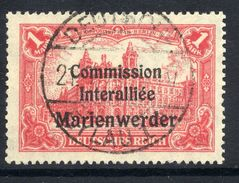 MARIENWERDER 1920 (16 July) Overprint On 1 Mk. With PF1, Used, Signed Klein.  Michel 26  I  Cat. €150 - Germany