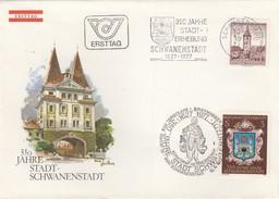 REPUBLIK OSTERREICH - FDC 350 JAHRE STADT-SCHWANENSTADT - 10.6.1977 /6 - FDC