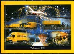 """Germany 2001 Chrismasblatt/Folder Deutsche Post AG Mit Mi.Nr.2229/30,Block 57und SST""""Bonn""""und Grußwort Postchef""""1 Folder - Post"""