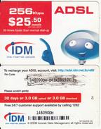 LEBANON - IDM Internet Prepaid Card $25.50(CN Over The Large Barcode), No Exp.date, Used - Lebanon
