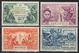 Martinique N° 129 - 131 * - Martinica (1886-1947)