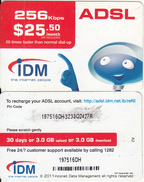 LEBANON - IDM Internet Prepaid Card $25.50(CN Over The Small Barcode), No Exp.date, Used - Lebanon