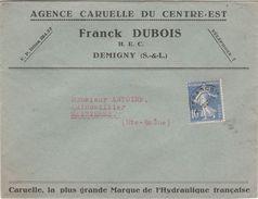 Enveloppe Commerciale Franck DUBOIS / Agence Caruelle / Hydraulique / 71 Demigny / Saône Et Loire - Cartes
