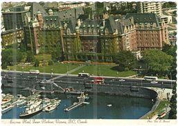 CANADA - 1971 - 3 + 7c + Flamme Pre-stamped Envelopes… - Par Avion - Empress Hotel, Inner Harbour, Victoria, British Col - Victoria
