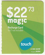 LEBANON - Touch By ZAIN Mini Recharge Card $22.73(right), Exp.date 04/11/18, Used - Liban