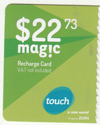 LEBANON - Touch By ZAIN Mini Recharge Card $22.73(left), Exp.date 04/11/18, Used - Liban