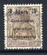 MARIENWERDER 1920 (9 May) Surcharge 3 Mk./ 3 Pf. Type B I A, Used.  Michel 24 B I A  Cat. €90 - Alemania