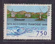 1996 Italy 750 Italian Lira RAMOGE Used Stamp - 6. 1946-.. República