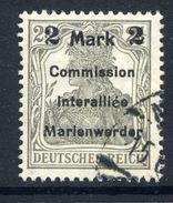 MARIENWERDER 1920 (11 May) Surcharge 2 Mk./ 2½ Pf. Type B I B, Used.  Michel 23 B I B Cat. €250 - Germany