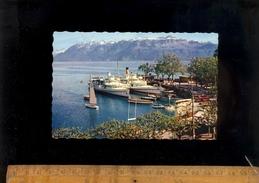 OUCHY LAUSANNE Vaud : Le Port  Bateau Vapeur Bateaux Du Léman Schiff Ship Boat - VD Vaud