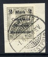 MARIENWERDER 1920 (11 May) Surcharge 2 Mk./ 2½ Pf. Type A III A, Used On Piece.  Michel 23 A III A Cat. €120 - Germany