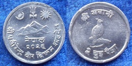 NEPAL - 2 Paisa VS2026 1969AD KM# 753 Mahendra Bir Bikram  (1955-1972) - Edelweiss Coins - Nepal