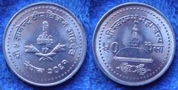 NEPAL - 50 Paisa VS2061 2004AD KM# 1179 Gyanendra Bir Bikram  (2001-2006) Asia - Edelweiss Coins - Nepal