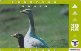 Faroe Islands, OD-023,  30 Kr , Faroese Animals, Goose, 2 Scans. - Faroe Islands