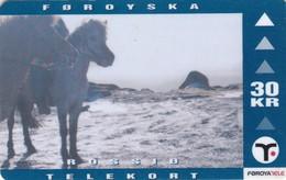 Faroe Islands, OD-024,  30 Kr , Faroese Animals, Horse, 2 Scans. - Faroe Islands