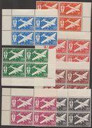 Afrique Equatoriale Française AEF 1942 PA N° 22-28  NMH France Libre Bloc De 4 BDF   (F1) - A.E.F. (1936-1958)