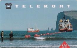 Faroe Islands, OS-001, Kodalskip, Mint 200 Kr Card, For Use On Fishing Boats. 2 Scans. - Faroe Islands
